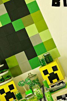 Minecraft Creeper Birthday Party