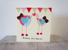 Hey, I found this really awesome Etsy listing at https://www.etsy.com/listing/124476230/happy-birthday-card-with-birds-and