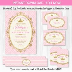 Free printable princess birthday party invitations printable party princess invitations princess party princess labels princess birthday invitations princess thank you instant access with corjl filmwisefo