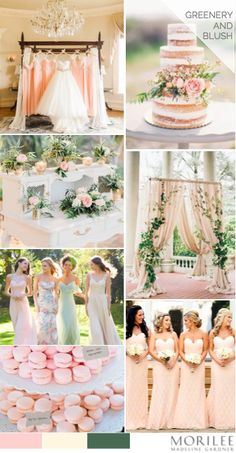 Greenery Blush And Champagne Wedding Palette Morilee By Madeline Gardner Bridesmaid Dresses