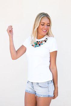 camiseta mujer blanca estampada http://barnachic.com/producto/statum-no14/