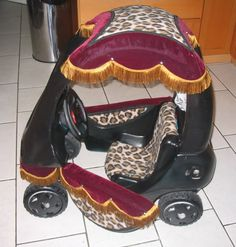 Match your princess' halloween costume with a carriage  - another repurposed Little Tikes car :0)