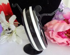 Classic Black and White Bangle Bracelet  featured at www. CCCsVintageJewelry.com. This is a classic bracelet and can be worn with  anything black and white.  Warmest Wishes for a Happy New Year. Best, Coco
