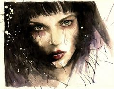 Where we die young - Watercolor Paintings by Rosaria Battiloro  <3 <3