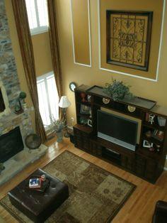 2 Story Warmth - Family room. Foyer IdeasWall ...