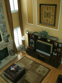 Vaulted walls on pinterest 2 story foyer foyers and two for 2 story living room decorating ideas