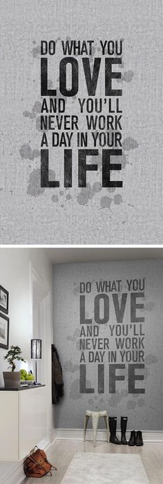 Concrete wall with stains and text #wallpaper - Quotes - rebelwalls.com