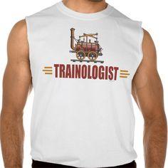 Humorous Railroad Train Sleeveless T-shirts Tank Tops