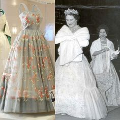 Hardy Amies ball gown for Her Majesty the Queen Mother and Princess Margaret