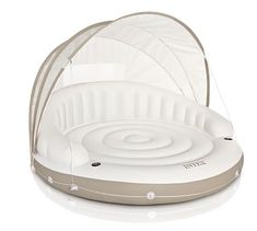Canopy Pool Float, White/Tan