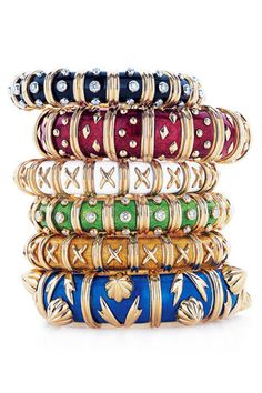 Jean Schlumberger, while he worked for Tiffany & Co., created these amazing bracelets. Love them.