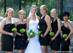 Classic black in different styles #bhbride