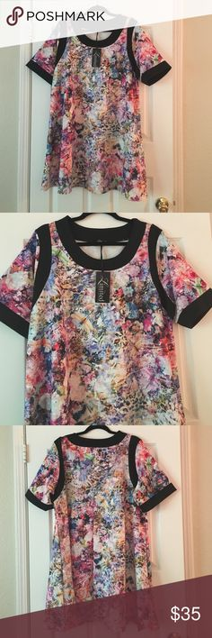 Yours Clothing floral tunic/dress Floral tunic can be worn as a short dress. Skater style.98% polyester 2% spandex Yours Clothing Tops Tunics