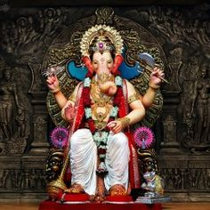 Ganesha is also known as 'Vighnaharta', he is popularly worshipped as a remover of obstacles, though traditionally he also places obstacles in the path of those who need to be checked.
