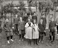 Interesting picture from Eaton School, Washington D.C. (circa 1910).  Fun to see the children in their school clothing.