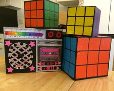 Mini boom box and Rubik cubes ,birthday props 30th Birthday, Birthday Party Themes, Party Props, Party Ideas, Photoshoot Themes, 90s Party, Fresh Prince, Cool Themes, Boombox