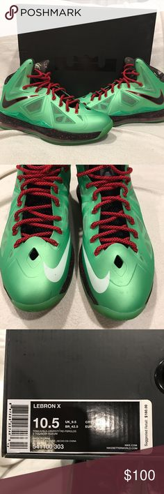 Nike Lebron Jade X shoes Coveted Lebron Nike Jade X shoes. Very very GENTLY worn. (Maybe 10 times) Original box included  Just in time for holiday to add to your collection! Nike Shoes Athletic Shoes