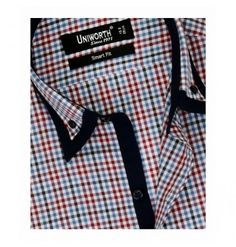 Crimson With Multi Check Shirt