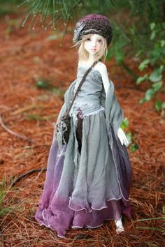 """Dark Side Of The Forest"" ☷ costume by Forever Virginia ☷ Commissioned outfit modeled by Salem (Doll Chateau Debbie MSD)"