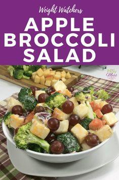 Apple Broccoli Salad Weight Watchers Apfel-Brokkoli-Salat-Rezept The Holy Mess Ww Recipes, Side Dish Recipes, Salad Recipes, Healthy Recipes, Drink Recipes, Healthy Eats, Healthy Foods, Apple Broccoli Salad, Apple Salad