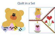 Valentine Bears Machine Embroidery Designs http://www.designsbysick.com/details/valentinebear