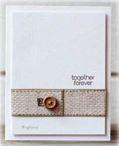 Together forever card by Birgit. This would be a cute wedding card.