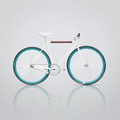 Adding brown to my white fixie Velo Vintage, Vintage Bicycles, Cool Bicycles, Cool Bikes, Fixed Gear Bikes, Fixi Bike, Vw Minibus, Pedal, Bike Style