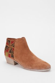 Urban Outfitters Brown Sam Edelman Putnam Woven Geo Ankle Boot