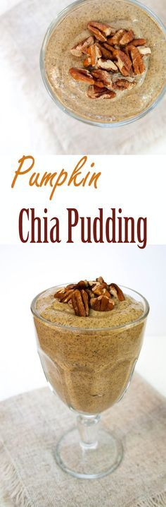 Pumpkin Chia Pudding (vegan, gluten free, sugar free) -This smooth and creamy pudding is not only easy to make, but is healthy enough to be eaten for breakfast.