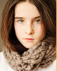 Handmade by 8 year old, Chunky Cowl  $18 Proceeds donated to Autism Awareness & Local Foodbank
