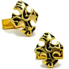 High quality metal + Electroplating Cross-shaped Golden color cufflinks men's Cuff Links + Free Shipping !!! $9.99