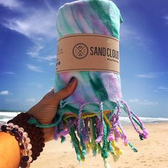 "Want to win a wanderlust tie-dye towel? Simply comment below with a ""❤️"" and tag 2 of your best friends!❤️❤️❤️#sandcloud #savethefishies #diditforthetowel Thanks @melissafaithyoga"
