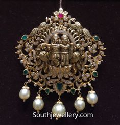 Indian Jewellery Designs - Page 17 of 1785 - Latest Indian Jewellery Designs 2020 ~ 22 Carat Gold Jewellery one gram gold New Gold Jewellery Designs, Gold Temple Jewellery, Gold Earrings Designs, Bead Jewellery, Pendant Jewelry, Gold Jewelry, Latest Jewellery, Ganesh Pendant, Gold Pendent