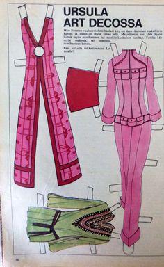 Paper doll Ursula's clothes 1970