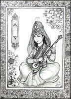 Ausmalen Erwachsene Persischer Musiker