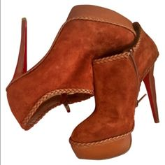 Heels Auburn stiletto Christian Louboutin heels in great condition. Worn only once. Christian Louboutin Shoes Heeled Boots