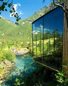 Minimalist Architecture and Mesmerizing Views: Juvet Landscape Hotel in Norway Minimalist Architecture, Architecture Design, Green Architecture, Architecture Interiors, Building Architecture, Beautiful Architecture, Oh The Places You'll Go, Places To Travel, Travel Destinations