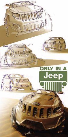 Jeep study by Anton Garland at Coroflot