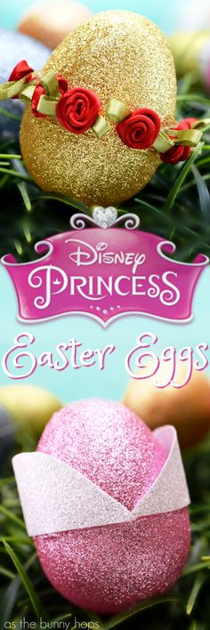 Disney Princess-inspired Easter Eggs are easy to make and only take a few minutes!