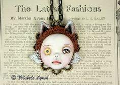 Original Cameo Sculpture Steampunk Foxr Girl by michelelynchart, $60.00