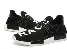 f60fd53a40869 Adidas X Pharrell Williams NMD HU Human Race Black White Athlete Running  Sneakers
