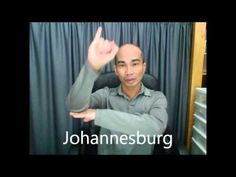 Sign Language for Cities of South Africa Deaf Culture, American Sign Language, Languages, South Africa, Cities, Signs, Learning, Idioms, Shop Signs