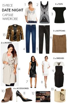 What to wear on a date night - capsule wardrobe