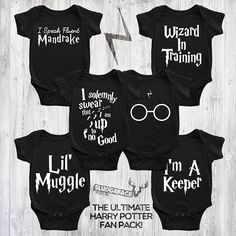 Harry Potter Ultimate Fan Babysuit Fan Pack  Harry Potter Cute Harry Potter, Baby Suit, Fan, Suits, Trending Outfits, Clothes, Outfits, Clothing, Clothing Apparel