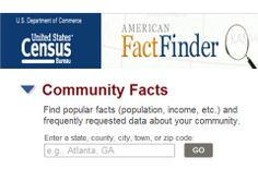 American FactFinder is your source for population, housing, economic and geographic information. Census Data, Statistical Data, Economics, Facts, Science, Education, American, Finance, Onderwijs