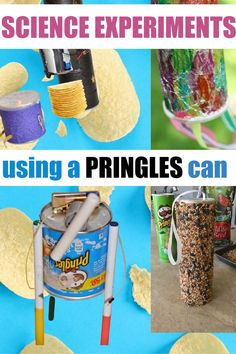 Easy science experiments using a Pringles can! #Scienceforkids #science #STEM #STEMChallenges