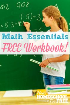 Here is an awesome FREE printable workbook on mastering math essentials: whole numbers and integers! Homeschool Math Curriculum, Consumer Math, Mastering Math, Math Workbook, 2nd Grade Math, Math Class, Math Courses, Numbers For Kids, Math Books