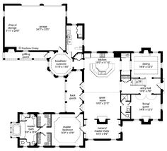 images about Floorplans on Pinterest   Tuscan House Plans    u shaped house plans   Print this floor plan Print all floor plans