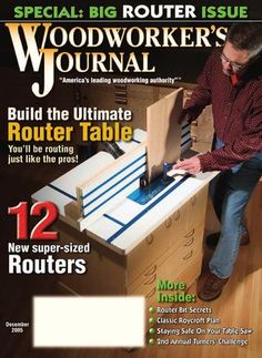 Woodworker's journal #6 2005 Roycroft, Router Table, Woodworking Books, Router Bits, The Secret, Challenges, Author, Journal, How To Plan