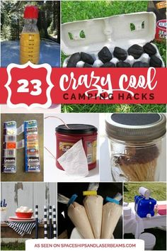 Camping Hacks, Tips and Tricks on Frugal Coupon Living. Creative camping ideas to simplify your memorable family outdoor trip. CAMPING HACKS, TIPS AND TRICKS Camping? Going to the great outdoors. Zelt Camping, Vw Camping, Camping Meals, Family Camping, Outdoor Camping, Camping Tricks, Camping Stuff, Camping Items, Camping Guide